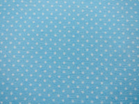 Baby Blue Stars Polka Dot Fabric White Cotton Canvas Heavy Upholstery Fabric