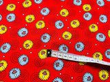 "Red Toadstool Mushroom Cotton Fabric Craft Fabric - Width Approx. 148cm/58"" - Kims Crafty Corner"