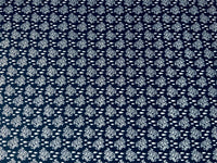 Navy Nautical Fabric Coral Cotton Fabric, Ocean Fabric, Fish Fabric Coast Fabric