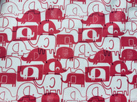"Baby Pink Elephants Animals Cotton Fabric Craft Fabric - Width Approx. 144cm/56"" - Kims Crafty Corner"