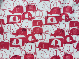 Baby Pink Elephants Animals Cotton Fabric Craft Fabric - Width Approx. 144cm/56""