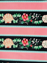 Load image into Gallery viewer, Pink Floral Blue Seaside Nautical Cotton Fabric Craft Quilting Seashell Fabric - Kims Crafty Corner