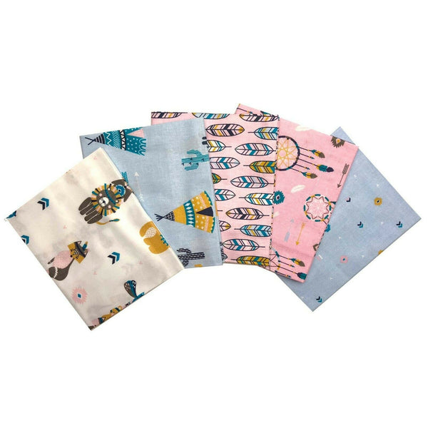 Cowboys & Indians Kids Fabric Fat Quarter Bundle - Kims Crafty Corner