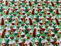 "Xmas Houses Nursery Cotton Fabric - Width Approx. 150cm/59"" Sold by the Metre"