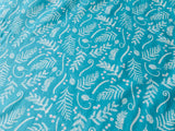 "Blue Floral Cotton Fabric - Width Approx. 112cm/44"" Sold by the Metre"