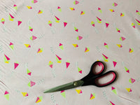"Baby Pink Purple Kites Cotton Fabric - Width Approx. 112cm/44"" Sold by the Metre"