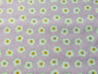 "Pink/Purple Floral Cotton Fabric - Width Approx. 112cm/44"" Sold by the Metre"