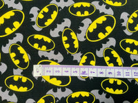 Batman Fabric Black Comic Cotton Fabric Craft Cotton Marvel Fabric Super Hero