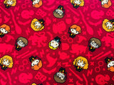 Harry Potter Fabric Burgundy Red Cotton Fabric Craft Cotton Disney Fabric Ron