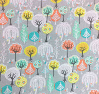 Woodland Fabric, Childrens Cotton Fabric, Woodland Nursery Fabric, Tree Fabric - Kims Crafty Corner