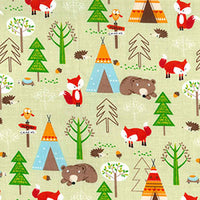 Woodland Country Fox Childrens Fabric, fox fabric, woodland fabric, animal fabric - Kims Crafty Corner