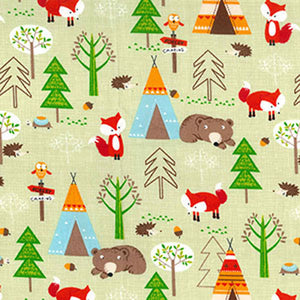 Woodland Country Fox Childrens Fabric - Kims Crafty Corner