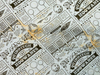 Harry Potter Fabric Quidditch Newspaper Cotton Fabric Craft Cotton Disney Fabric