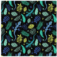 Stunning Jungle Lizard Leaves Monkey Kids Cotton Fabric - Width Approx. 112cm - Kims Crafty Corner