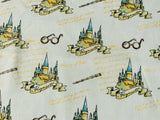 Harry Potter Fabric White Castle Magic Cotton Fabric Quilting Craft Cotton