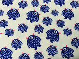 Purple Monsters Fabric On Beige Fabric Cotton Fabric, Nursery Fabric, Boys Room