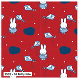 Nursery Fabric Miffy Red Kites Rabbits Cotton Fabric Width Approx 112cm/44""