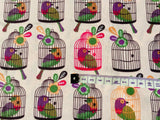 Bird Cage Fabric, 100% Cotton Fabric, Kids Fabric, Cute Fabric, Cool Fabric