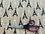 Eiffel Tower Cotton Fabric - Kims Crafty Corner