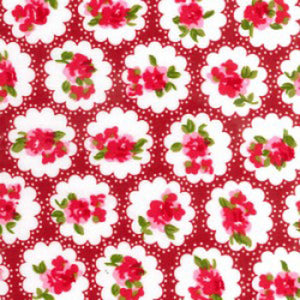 Cath Kidson Style Hearts & Roses Cotton Fabric - Kims Crafty Corner