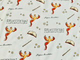 Harry Potter Fabric White Phoenix Magic Cotton Fabric Quilting Craft Cotton