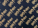 Harry Potter Fabric Black Gold Logo Cotton Fabric Craft Cotton Disney Fabric