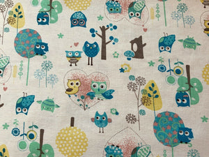 Bird Cotton Canvas Fabric Upholstery - Kims Crafty Corner