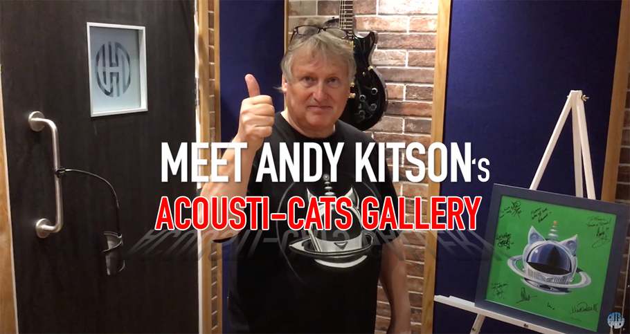 Snippet from the recent ViP ACOUSTi-CATS Evenings - Meet Andy Kitson's CiS artwork!