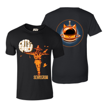 Load image into Gallery viewer, CLASSIC COLLECTABLES - 'Andy Kitson Scarecrow' T-Shirt (Orange on Black)