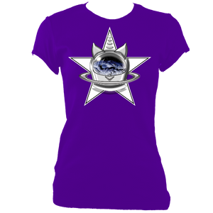 SUMMER COLLECTION - CATS in SPACE - StarCat Women's Fitted Tee