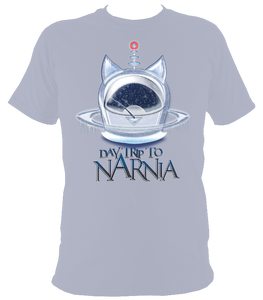 EXCLUSIVE to WEB STORE TEES 'Daytrip to Narnia' - Ice Pod  -  UNISEX in STONE BLUE   (Sm -2XL)