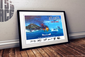 "ATLANTIS - 'DOG FIGHT' artwork by Andy Kitson print 24"" x 18"" - Sold Out"