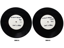 "Load image into Gallery viewer, DOUBLE WHITE LABEL TEST PRESS 7"" VINYL SET (2 of 3 sets left) -  My Kind of Christmas"