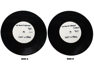 "DOUBLE WHITE LABEL TEST PRESS 7"" VINYL SET (2 of 3 sets left) -  My Kind of Christmas"