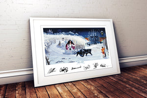"DAYTRiP to NARNiA - band signed album artwork by Andy Kitson print 32"" x 20"""