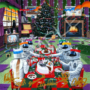 "Only 4 left....'MY KIND OF CHRISTMAS' 12""x12"" BAND SIGNED FULL COLOUR PRINT"