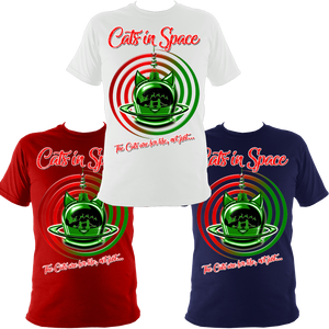 'CAT SWIRL' MY KIND OF CHRISTMAS TEES!