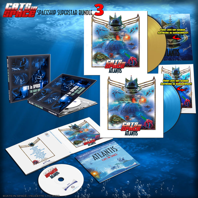 ATLANTIS 'SPACESHIP SUPERSTAR' BUNDLE No 3 - worth £78 if bought separately!