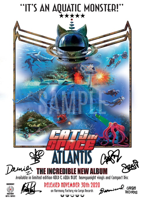 ATLANTIS - IT'S AN AQUATIC MONSTER! - TOUR POSTER