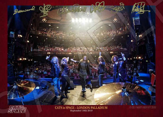 CATS IN SPACE  'LONDON PALLADIUM FINALE' signed deluxe print