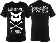 Load image into Gallery viewer, Unisex Fit Tee - Cat Skull and crossbones