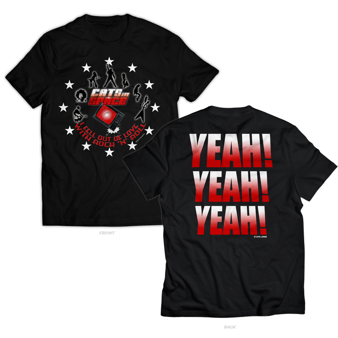 Unclaimed Pre-orders....'YEAH! YEAH! YEAH!' Black Tee - Unisex Only