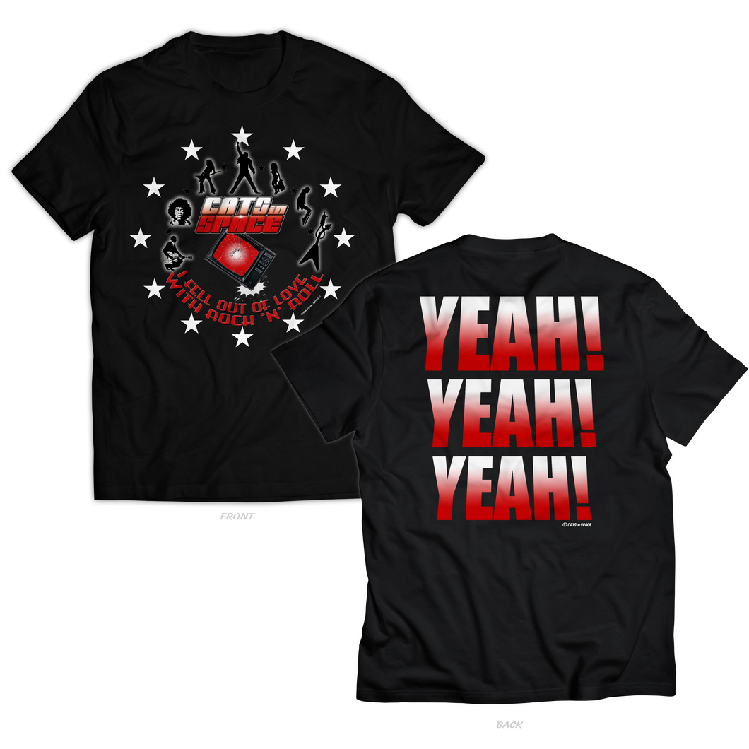 'YEAH! YEAH! YEAH!' Black Tee - Unisex and Women's Styles