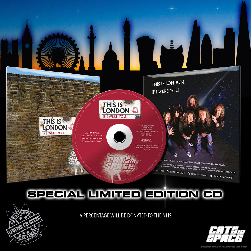 THIS IS LONDON / IF I WERE YOU - Double A side CD - CATS in SPACE
