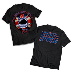 CLASSIC COLLECTABLES - 'UNION CAT' T-Shirt (Red, White & Blue on Black) Deep Purple Tour