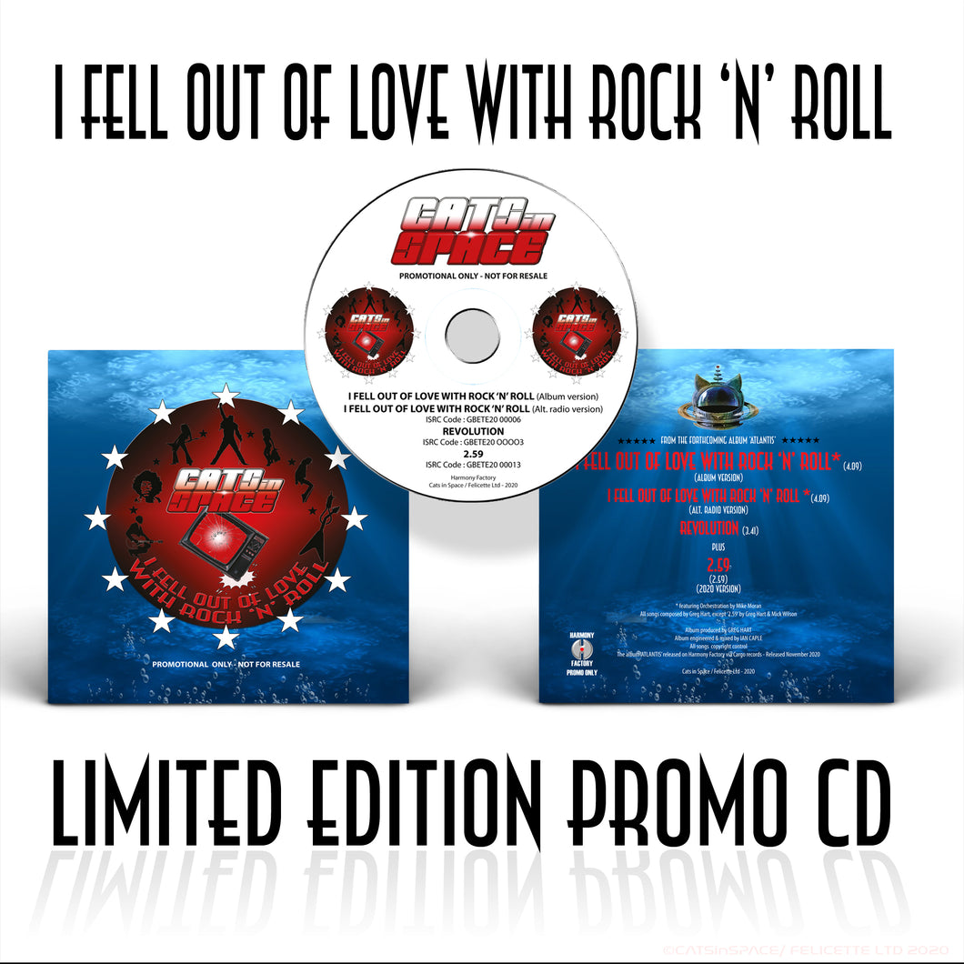 I FELL OUT of LOVE WITH ROCK 'n' ROLL LIMITED EDITION PROMO CD
