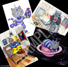 Load image into Gallery viewer, SET OF FOUR A4 HAND-SIGNED 'SCARECROW ART PRINTS' - only 2 sets left!