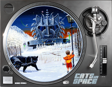 Load image into Gallery viewer, CATS in SPACE TURNTABLE SLIPMATS Limited availability - only 1 design left!