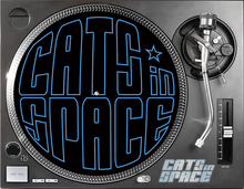 Load image into Gallery viewer, CATS in SPACE TURNTABLE SLIPMATS (5 DESIGNS - Click to view)