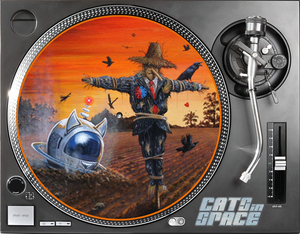 CATS in SPACE TURNTABLE SLIPMATS (5 DESIGNS - Click to view)